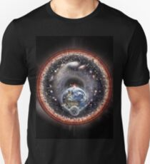 Earth Moon and the Universe (embossed) Unisex T-Shirt