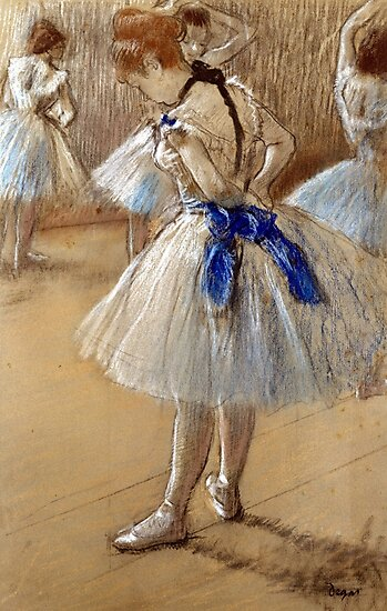 EDGAR DEGAS ~ BALLET DANCERS IN THE WINGS 24x30 FINE ART POSTER Print NEW//ROLLED