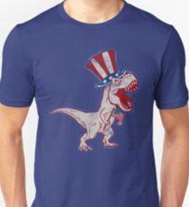 4th Of July Dinosaur  Unisex T-Shirt