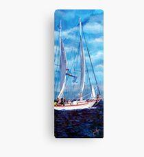 Profile of a Sailboat Canvas Print