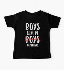 Jungen werden Feministinnen sein Baby T-Shirt
