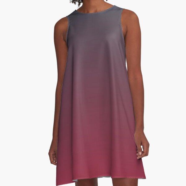 Lustre - einfache Farbe iPhone Case und andere Drucke A-Linien Kleid