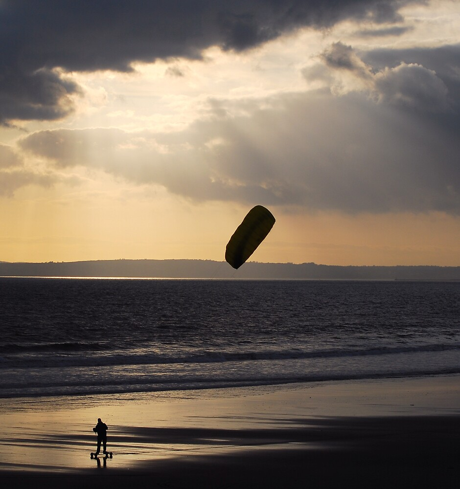 kite surfer on wheels  by cool3water