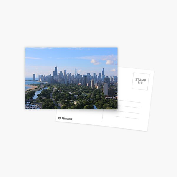 Chicago skyline in summer Postcard