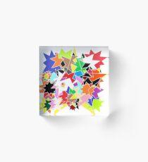 Blotched Stars Acrylic Block