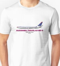 "McDonnell Douglas MD-11 - Delta Air Lines ""Old Colours"" T-Shirt"