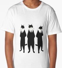 Tuxedo cats Long T-Shirt