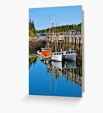 Head Harbour Wharf Greeting Card