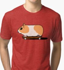 Guinea Pig on Skate Tri-blend T-Shirt