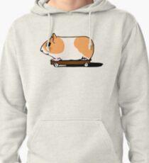 Guinea Pig on Skate Pullover Hoodie