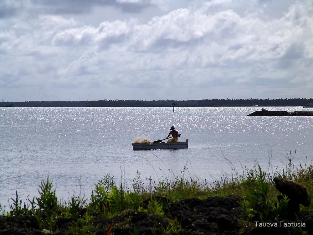 The Lone Fisherman by taueva faotusia