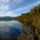 Sky and Reflections - Lake Peddar by Richard  Stanley