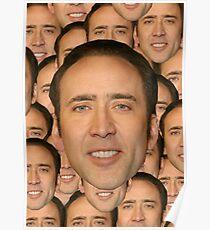 Nicolas Cage's Face Poster