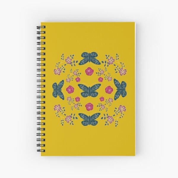 Folk butterfly pattern Spiral Notebook