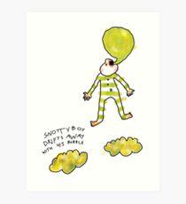 'Snotty Boy Bubbles' Art Print