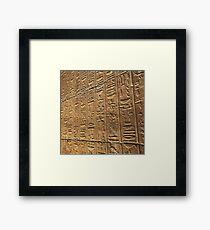 Hyroglifics, Egypt  Framed Print