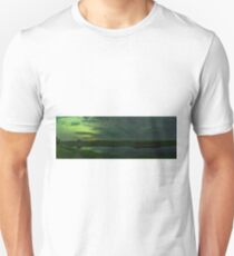 Norther Lights Panorama Reflection  Unisex T-Shirt