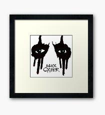 alice cooper black style Framed Print