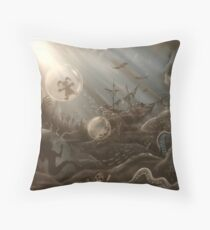 Underwater Nightmares by Ed Capeau Throw Pillow