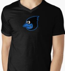 Blue Bird Brain Men's V-Neck T-Shirt