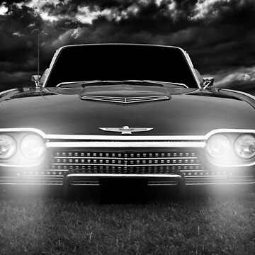 ford Thunderbird, black and white by hottehue