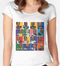NBA Legends Shoes Women's Fitted Scoop T-Shirt
