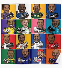 NBA Legends Shoes Poster