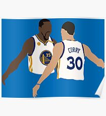 Kevin Durant und Stephen Curry Poster
