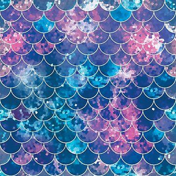 Pastel Galaxy Mermaid Scales by deliinthesky