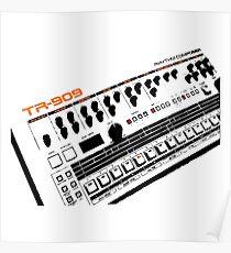 Roland Tr-909 Drum Machine Poster
