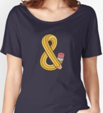 Pencil Ampersand Women's Relaxed Fit T-Shirt