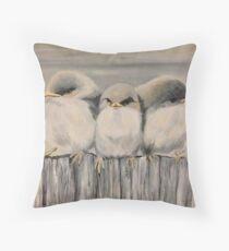 Three Little Birds by Ed Capeau Throw Pillow
