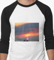 purple sun Men's Baseball ¾ T-Shirt