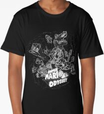 Super Mario Odyssey - Black & White Group Cover Long T-Shirt