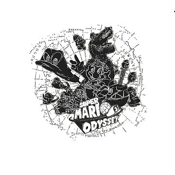 Super Mario Odyssey - Black & White Group Cover by nebucaneser
