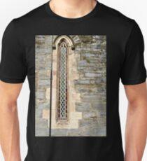 Narrow Window, Old Church, Griannan. Donegal, Ireland Unisex T-Shirt
