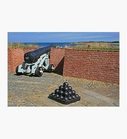 Cannon and Balls Photographic Print
