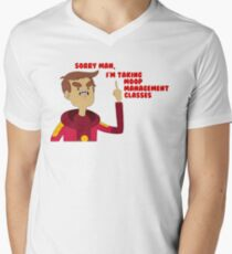 Camiseta para hombre de cuello en v Gestión de Moop