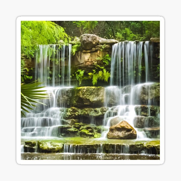 Waterfall Tranquility IV Sticker