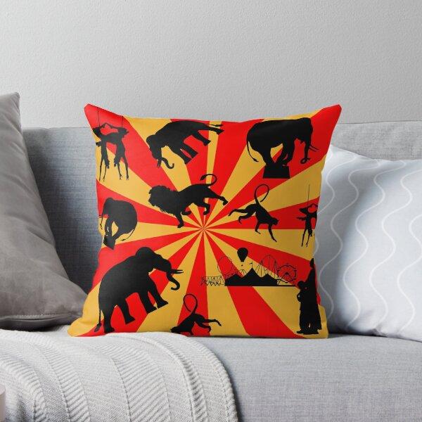 Saffron Circus Throw Pillow