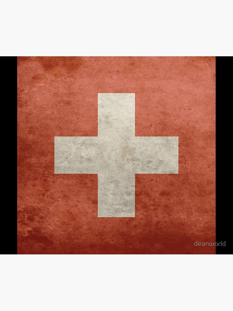 Grunge Swiss Flag by deanworld