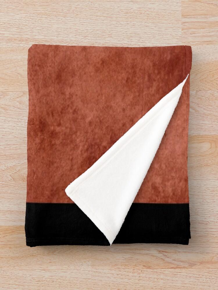 Alternate view of Grunge Swiss Flag Throw Blanket