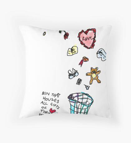 Unreciprocated Love Bin Throw Pillow