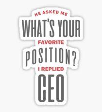 I Replied CEO T-shirt Sticker