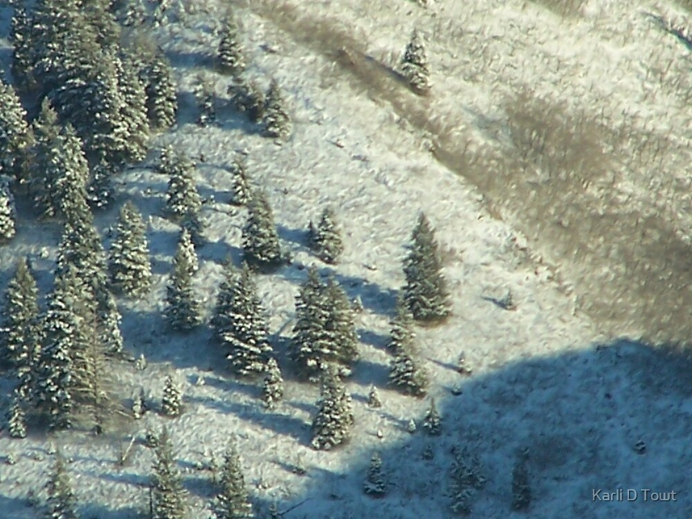 A Very Extreme Closeup of the Wasatch Mountains by Karli D Towt