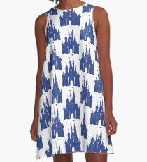 Dark Blue A-Line Dress