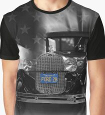 1928 Ford Model A, black and white Graphic T-Shirt