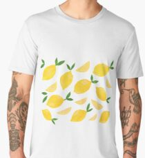 Cut + Paste Lemon Pattern Men's Premium T-Shirt