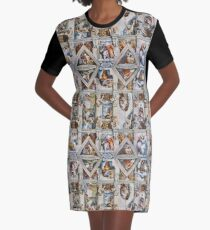 Michaelangelo - Sistine Chapel Ceiling Graphic T-Shirt Dress