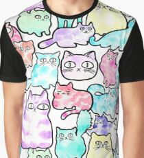 Inky Cats Graphic T-Shirt